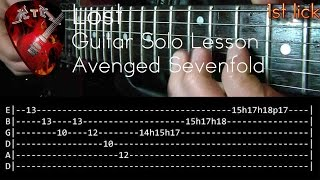 Скачать Lost Guitar Solo Lesson Avenged Sevenfold With Tabs