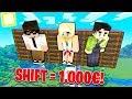CHI MOLLA PER ULTIMO IL TASTO SHIFT VINCE 1000€!! - Minecraft Divertente