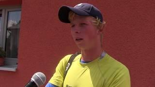 Antonín Bolardt po výhře v 1. kole kvalifikace na turnaji Futures v Ústí n. O.