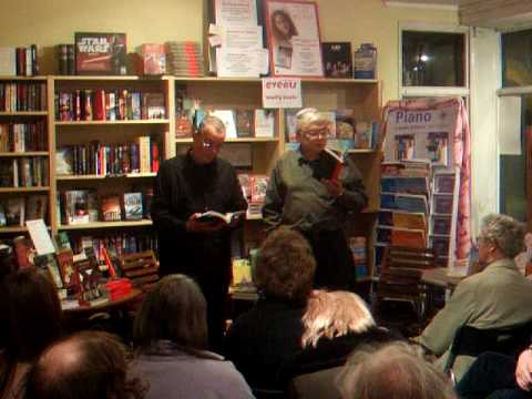 Tim Saunders reads Cornish language poetry at Mostly Books