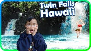 WATERFALL JUMPING Epic Hiking Adventure to Twin Falls Hawaii, Maui Vacation Part4 - TigerBox HD