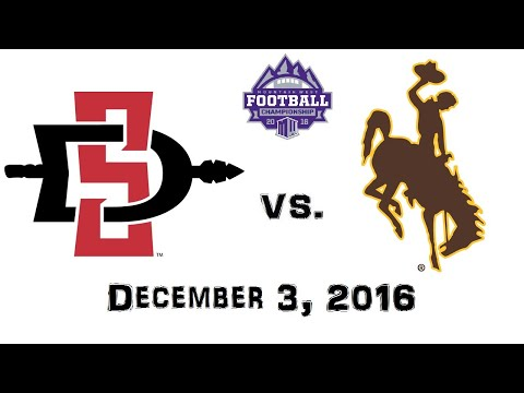 Mountain West Championship - December 3, 2016 - San Diego State Aztecs vs. Wyoming Cowboys Full Game