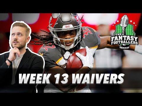 Fantasy Football 2017 - Week 13 Waivers & QB Streamers, Feelin' Crabby - Ep. #487
