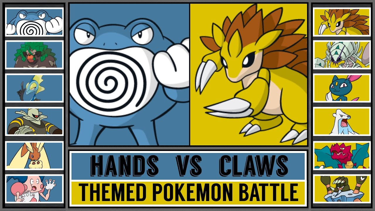 Themed Pokémon Battle: HANDS vs CLAWS
