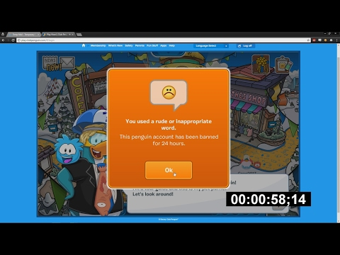 [ex-WR] Banned From Club Penguin Speed Run 0:58:14