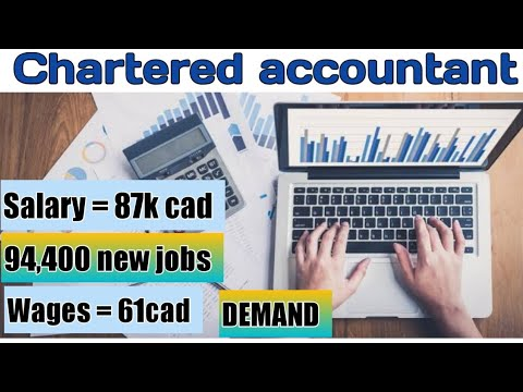 Being A CHARTERED ACCOUNTANT In CANADA 2020 With Their Salary Wage Career Demand Certification