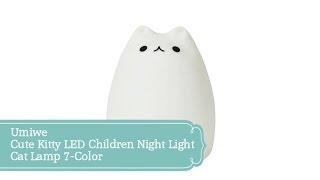 Umiwe Cute Kitty LED Children Night Light Cat Lamp 7-Color