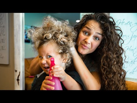 CURLY HAIR TO STRAIGHT | FAMILY VLOG