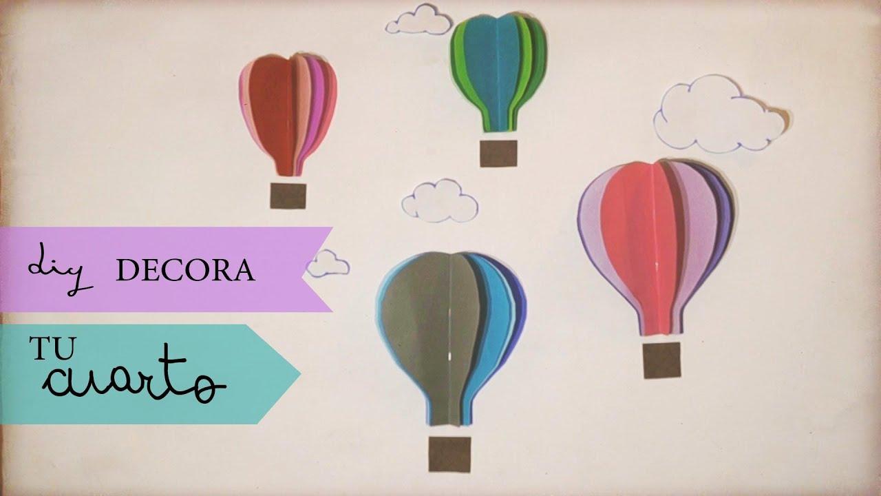Diy decora tu cuarto con globos youtube - Decora con globos ...