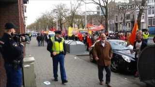 Politiestaat wordt zichtbaar tijdens 1 mei protest Rotterdam