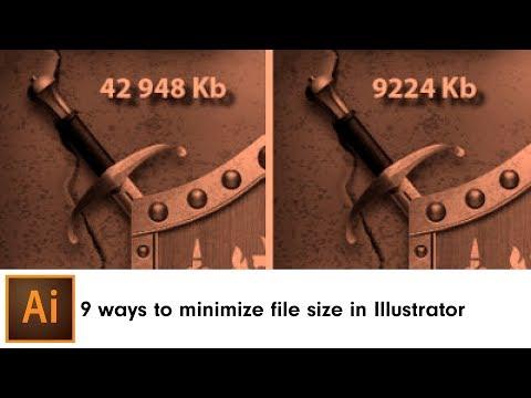 9 ways to minimize file size in Adobe Illustrator