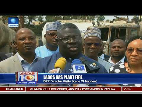 Lagos Gas Plant Fire: DPR Director Visits Scene Of Incident