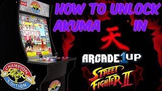How To Unlock Akuma In Arcade1Up Street Fighter Arcade Cabinet