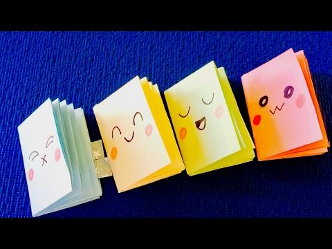 Cмотреть видео онлайн DIY crafts Как сделать Мини блокноты своими руками.