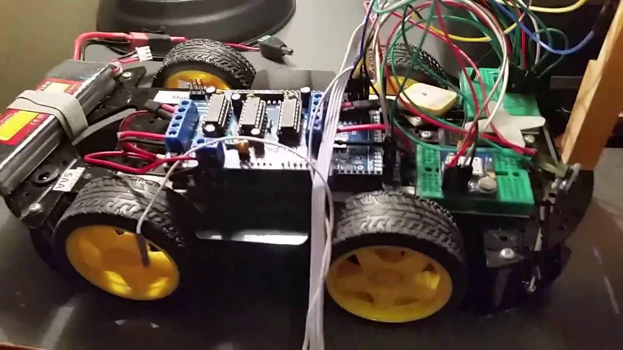 Arduino bluetooth robot car with gps and compass version