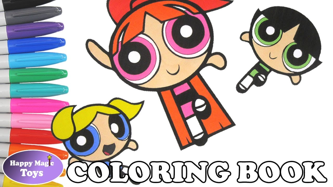 the powerpuff girls coloring book bubbles buttercup blossom