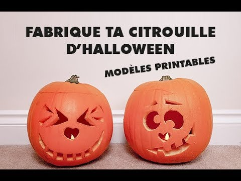 Fabrique Ta Citrouille Dhalloween Modèles Printables Youtube