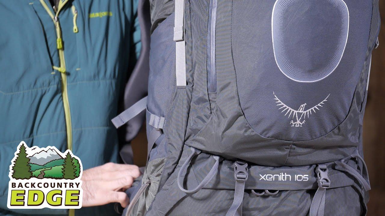 osprey xenith 105 internal frame backpack youtube