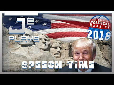 The Political Machine 2016 Democrat Campaign Gameplay - Speech Time - Part 2