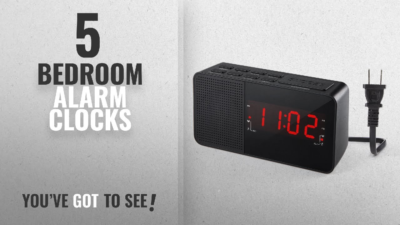 Top 10 Bedroom Alarm Clocks [2018 ]: Dual Alarm Clock Radio, Digital AM/FM  Radio Alarm Clock with 20