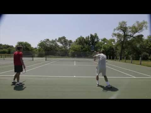 The Essential Tennis Team gets out to hit.  Cooperative meets Competitive.