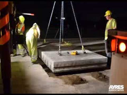 Experimental Precast Panel Concrete Repair Time Lapse
