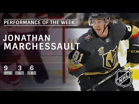 Golden Knights' Jonathan Marchessault is the NHL Star of the Week: Nov 26, 2017