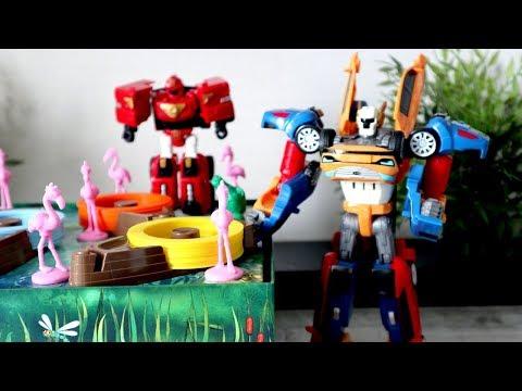 Тоботы - Трансформеры и игра в Ринго Фламинго. Видео с игрушками