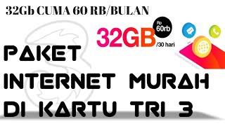 PAKET INTERNET  TRI (3) MURAH, KUOTA BESAR 32 GB (no hoak, no klik bait, no fack)