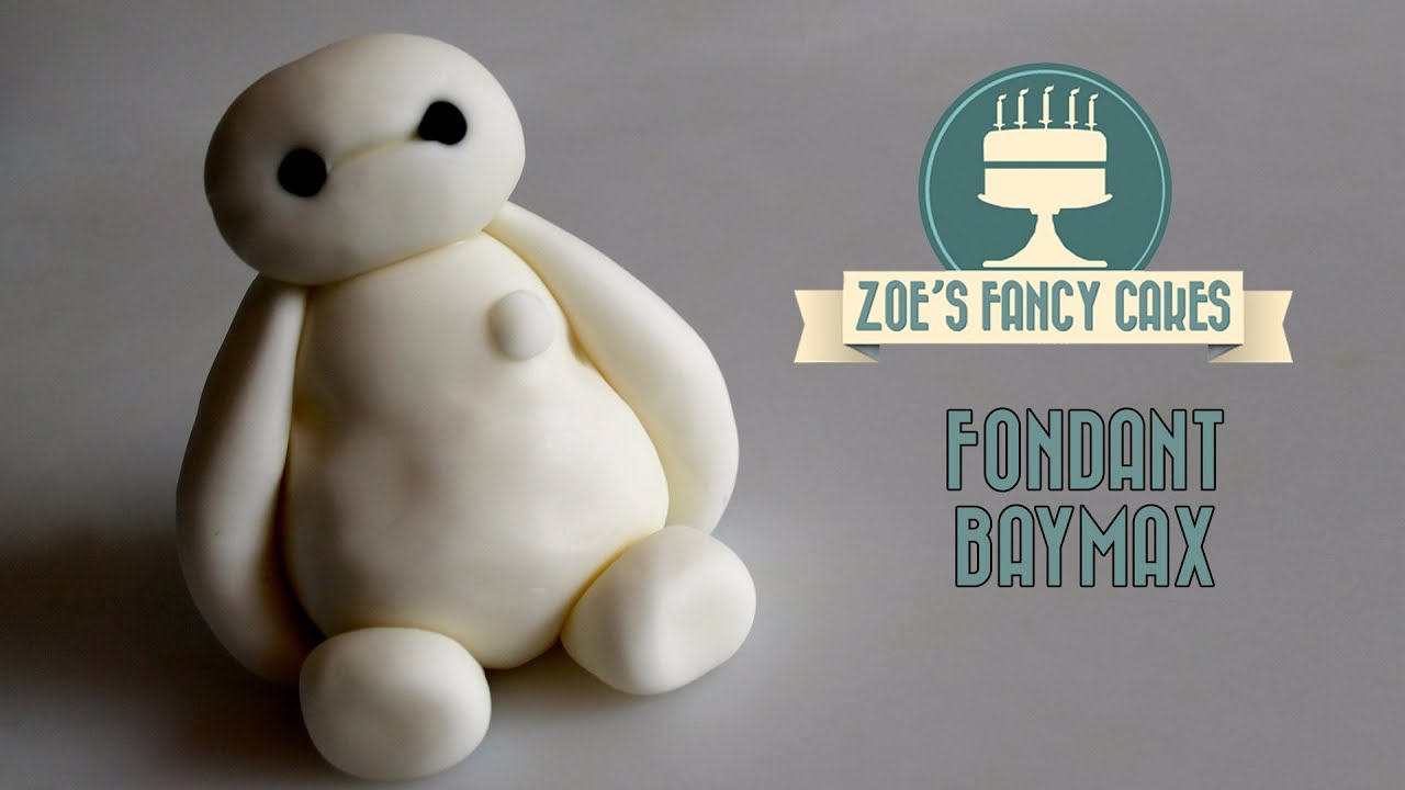 Fondant Baymax cake topper big hero 6 fondant figure cake decorating