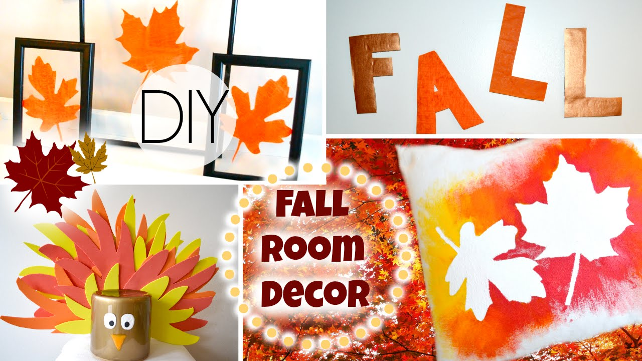 Diy Fall Room Decorations For Cheap Youtube