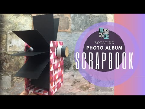 Rotating Photo Album | Scrapbook | DIY Gift Ideas