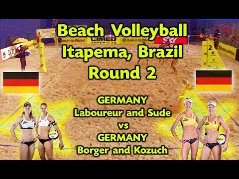 Beach Volleyball - Itapema Brazil - Laboureur & Sude (GER) vs Borger & Kozuch (GER)
