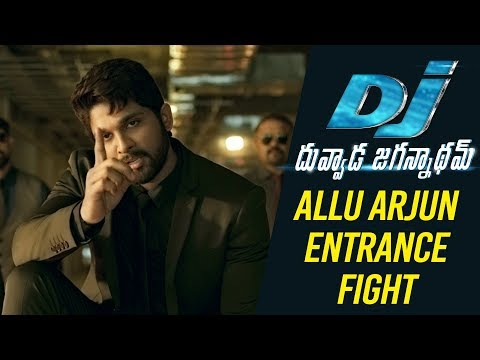 DJ Duvvada Jagannadham Scenes - Allu Arjun Entrance Fight Scene | DJ On FIRE