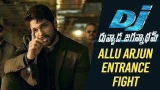 DJ Duvvada Jagannadham Scenes - Allu Arjun Entrance Fight Scene | DJ On FIRE