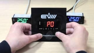 EVCO. Принцип налаштування контролерів EV3.