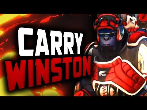 Insane Carry Winston - Numlocked! 43 ELIMS! 18k DMG! [ OVERWATCH SEASON 12 TOP 500 ]
