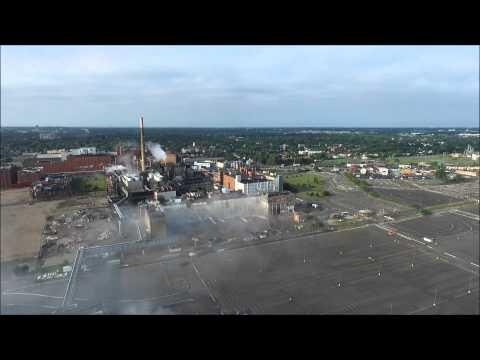 Kodak building 53 implosion. Rochester NY 7/18/15