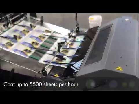 UV/Aqueous High Gloss Coating On Thin Label Stock Sheets Using The Kompac Kwik Finish 32
