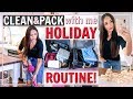 CLEANING ROUTINE FOR VACATION! HOW TO CLEAN BEFORE A TRIP! HOLIDAY SEASON | Alexandra Beuter