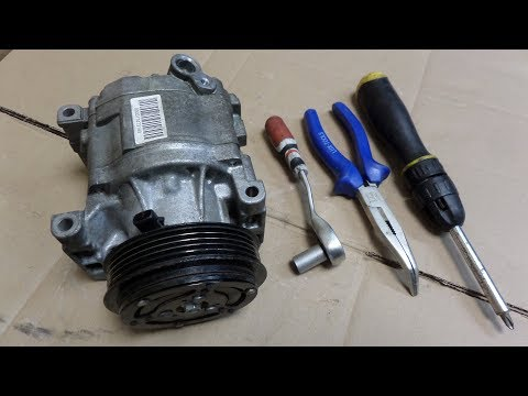 FIXING LOCKED UP AC COMPRESSOR - YouTube