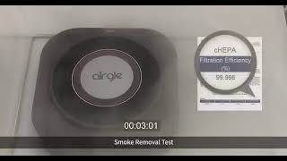 Airgle AG25 Personal and Car Air Purifier  - Smoke Removal Test