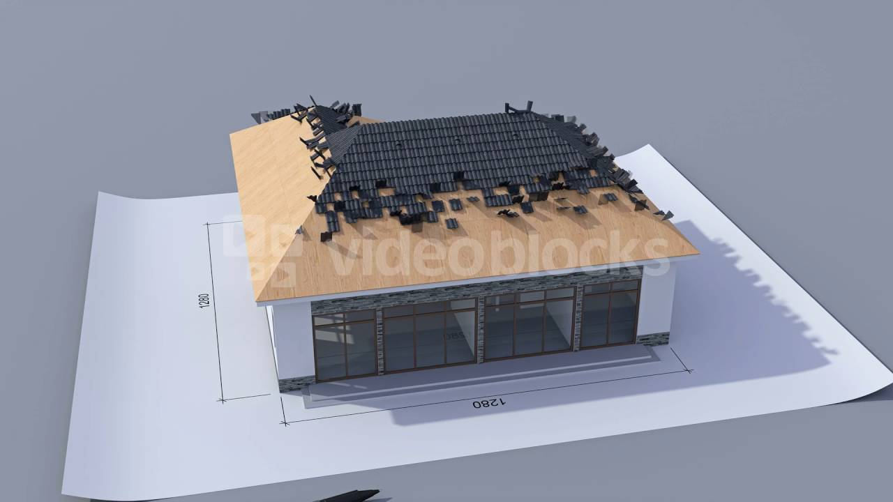 Building A House With A Hip Roof Time Lapse 3d Animation Of House