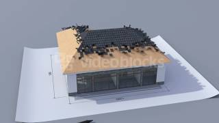 building a house with a hip roof time lapse 3d animation of house construction from the blueprints t