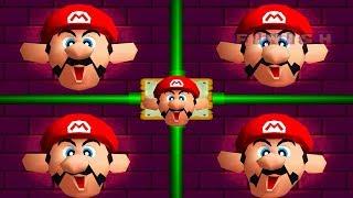 Mario Party 2 - All Score Minigames: Mario vs Luigi vs Peach vs Wario