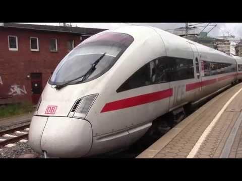 DB ICE T High Speed Train departing Hamburg, Germany Main Station (June 19, 2015)
