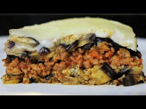 Musaka de berenjenas - Pastel de berenjenas - Recetas de cocina fáciles y económicas