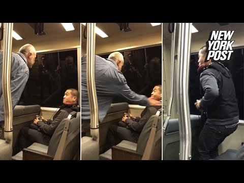 Bigot attacks Asian passenger on train while horrified commuters watch | New York Post