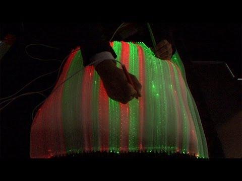 LightCloth - An interactive cloth woven from optic fibers  #DigInfo