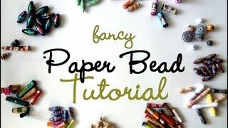 Gambar cover {MASSIVE} Fancy Paper Beads Tutorial